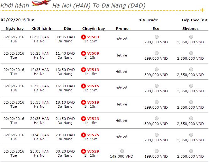 Vé máy bay Vietjet Air đi Đà Nẵng khuyến mãi giá rẻ