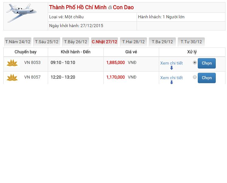 Vé máy bay Vietjet Air đi Côn Đảo