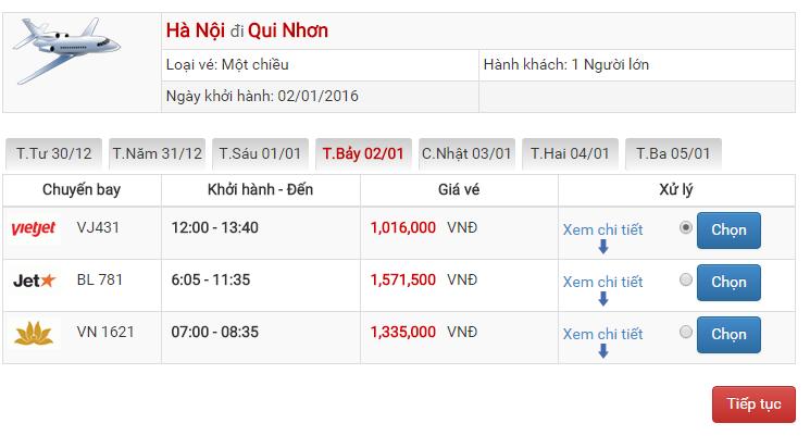 Vé máy bay Vietjet Air đi Qui Nhơn